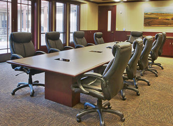 Inside the Allan Bros. employee conference room.