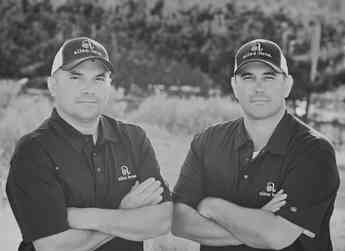 The fourth generation in the Allan Brothers family fruit packing business: Tom and Travis.